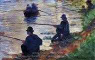 Fishermen painting reproduction, Georges Seurat