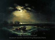Fishermen at Sea painting reproduction, Joseph M. W. Turner