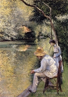 Fishing painting reproduction, Gustave Caillebotte