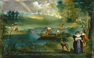 Fishing painting reproduction, �douard Manet