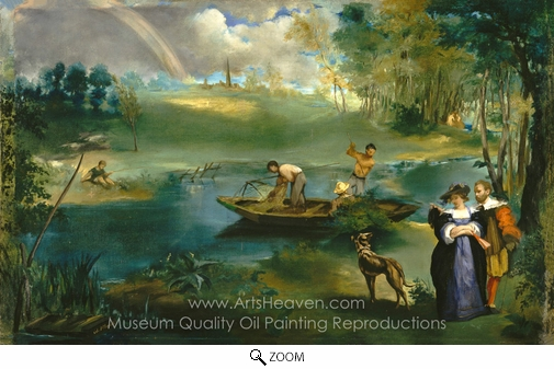 Édouard Manet, Fishing oil painting reproduction