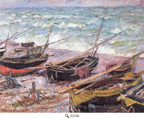 Claude Monet, Fishing Boats oil painting reproduction