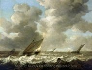 Fishing Boats in a Rough Sea painting reproduction, Simon De Vlieger
