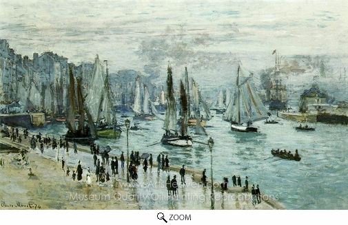 Claude Monet, Fishing Boats Leaving the Port of Le Havre oil painting reproduction