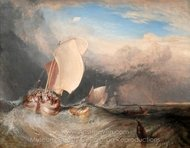 Fishing Boats with Hucksters Bargaining for Fish painting reproduction, Joseph M. W. Turner