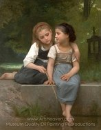 Fishing For Frogs (Peche pour les grenouilles) painting reproduction, William A. Bouguereau