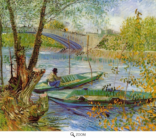 Vincent Van Gogh, Fishing in the Spring, Pont de Clichy oil painting reproduction