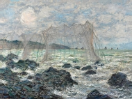 Fishing Nets at Pourville painting reproduction, Claude Monet
