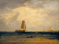 Fishing upon the Blythe-Sand, Tide Setting In painting reproduction, Joseph M. W. Turner