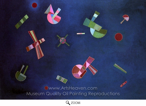 Wassily Kandinsky, Fixed Flight oil painting reproduction