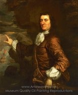 Flagmen of Lowestoft Admiral Sir Thomas Allin painting reproduction, Sir Peter Lely