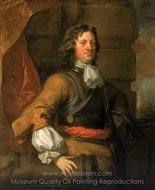 Flagmen of Lowestoft Edward Montagu, First Earl of Sandwich painting reproduction, Sir Peter Lely