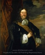 Flagmen of Lowestoft Vice-Admiral Sir Thomas Teddeman painting reproduction, Sir Peter Lely
