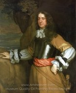 Flagmen of Lowestoft Vice-Admiral Sir William Berkeley painting reproduction, Sir Peter Lely
