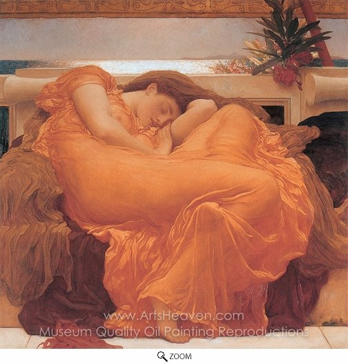 Lord Frederic Leighton, Flaming June oil painting reproduction