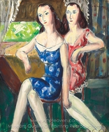 Flappers painting reproduction, Alfred Henry Maurer