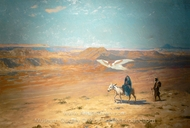 Flight into Egypt painting reproduction, Jean-Leon Gerome