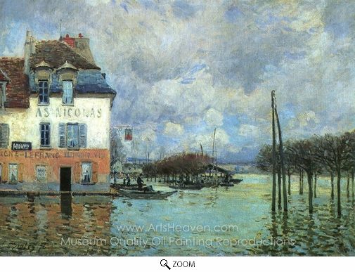 Alfred Sisley, Flood at Port-Marly oil painting reproduction