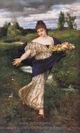 Flora, Blumen Streuend painting reproduction, Arnold Bocklin