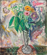 Floral Still Life painting reproduction, Alfred Henry Maurer