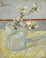 Flowering Almond Tree Branch in a Glass painting reproduction, Vincent Van Gogh