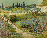 Flowering Garden with Path painting reproduction, Vincent Van Gogh