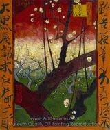 Flowering Plum Tree (after Hiroshige) painting reproduction, Vincent Van Gogh