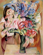Flowers and Figures painting reproduction, Alice Bailly