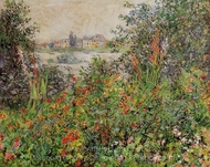 Flowers at Vetheuil painting reproduction, Claude Monet