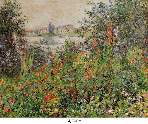 Claude Monet, Flowers at Vetheuil oil painting reproduction