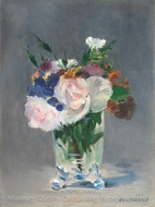Flowers in a Crystal Vase painting reproduction, �douard Manet