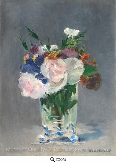 Édouard Manet, Flowers in a Crystal Vase oil painting reproduction
