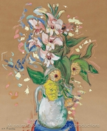 Flowers in a Vase painting reproduction, Alfred Henry Maurer