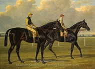 Flying Dutchman with Charles Marlow, and Voltigeur with Nat Flatman painting reproduction, John Frederick Herring Sr.