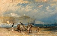 Folkestone Harbour and Coast to Dover painting reproduction, Joseph M. W. Turner