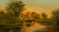 Fording the Stream painting reproduction, James McDougal Hart