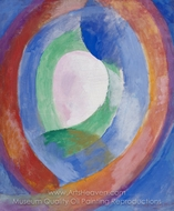 Formes Circulaires; Lune No. 1 painting reproduction, Robert Delaunay