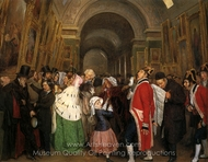 Four O'Clock: Closing Time at the Louvre painting reproduction, Francois Auguste Biard