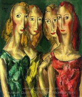 Four sisters painting reproduction, Alfred Henry Maurer