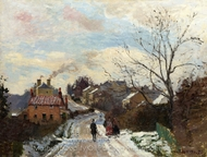 Fox Hill, Upper Norwood painting reproduction, Camille Pissarro