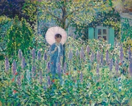 Foxgloves painting reproduction, Frederick Carl Frieseke