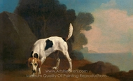 Foxhound painting reproduction, George Stubbs
