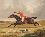 Foxhunting, Encouraging Hounds painting reproduction, John Frederick Herring Sr.