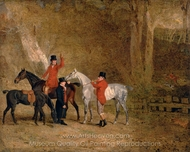 Foxhunting Scene painting reproduction, Benjamin Marshall