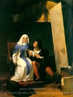Fra Filippo Lippi Falling in Love with His Model painting reproduction, Paul Delaroche