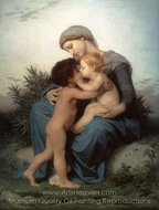 Fraternal Love painting reproduction, William A. Bouguereau