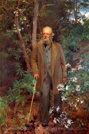 Frederick Law Olmsted painting reproduction, John Singer Sargent