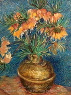 Fritillaries in a Copper Vase painting reproduction, Vincent Van Gogh