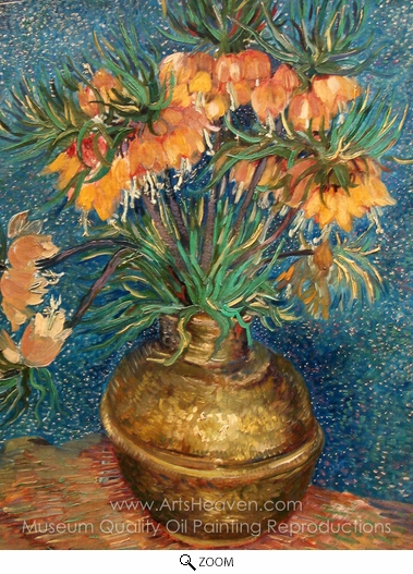 Vincent Van Gogh, Fritillaries in a Copper Vase oil painting reproduction