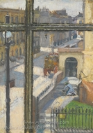 From a Window in the Hampstead Road painting reproduction, Spencer Frederick Gore